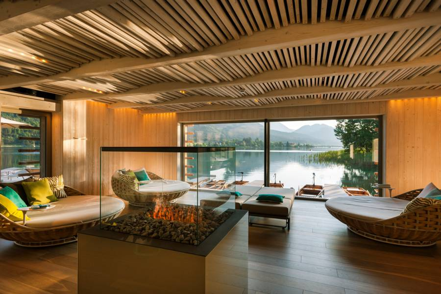 Spa & Relax Area with Lakeview Strandhotel am Weissensee
