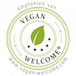 Logo Badge Vegan welcome